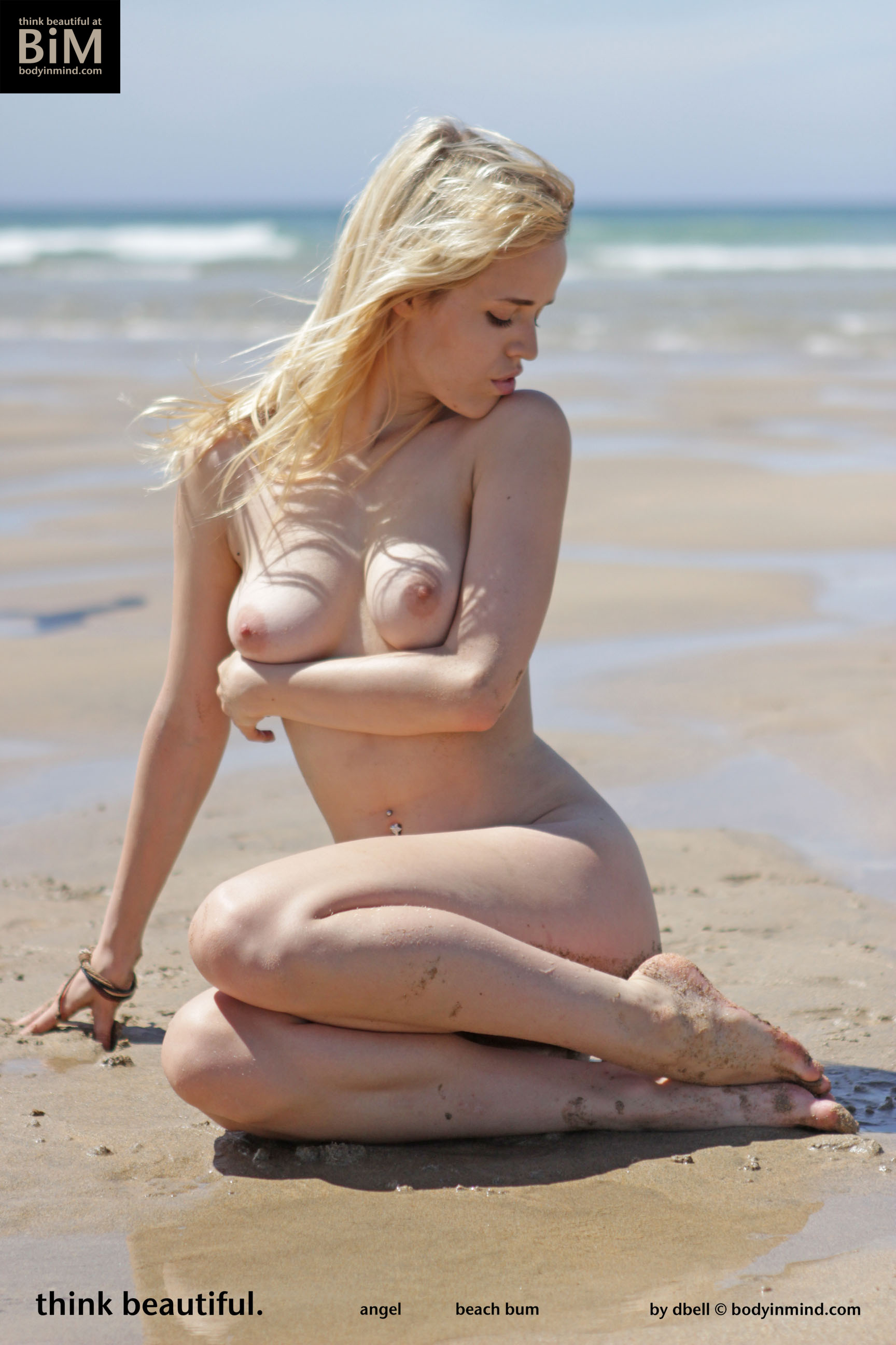 Angel Naked Boobs on the Beach for Body in Mind