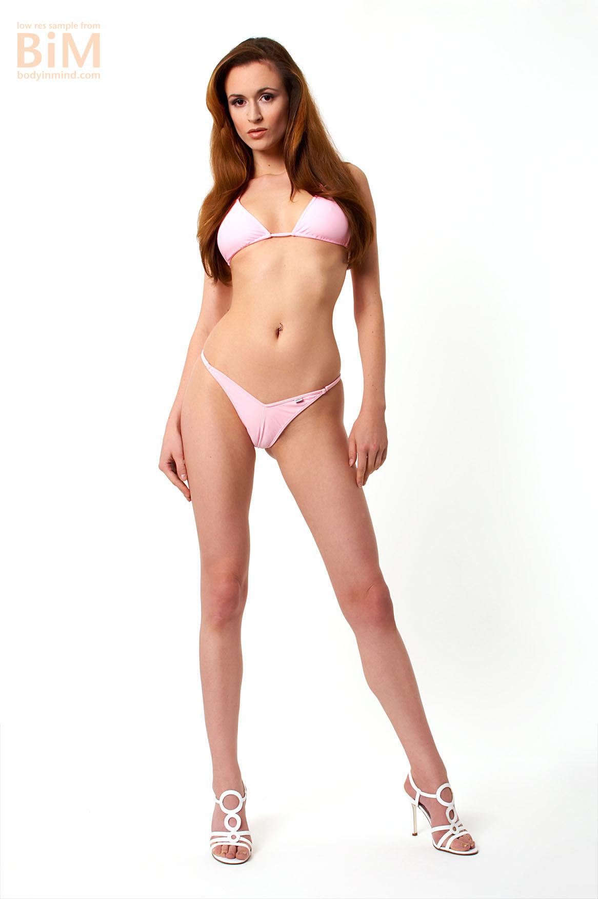 Anna Big Boobs Pink Bikini and high Heels for Body in Mind