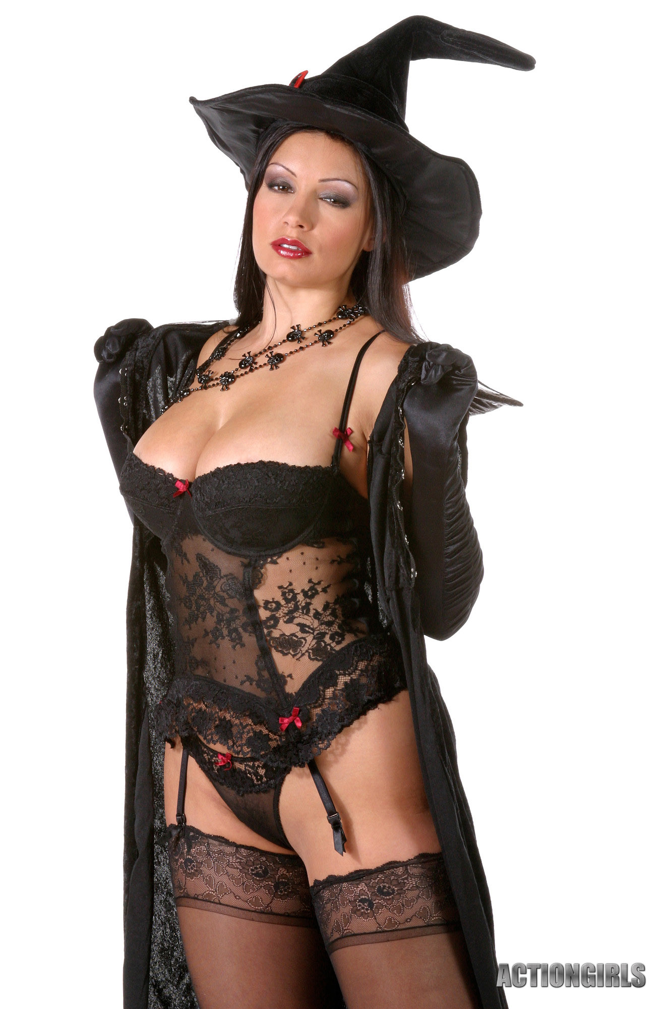 Aria Giovanni Big Tit Witch in Stockings for Actiongirls