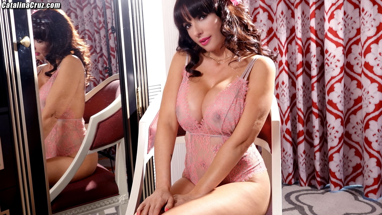 Catalina Cruz Big Boobs Pink Lingerie