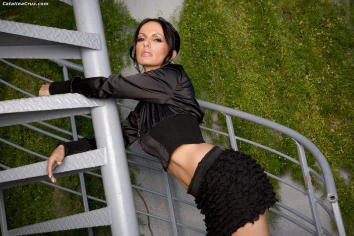 Catalina Cruz Big Boobs Tiny Black Miniskirt