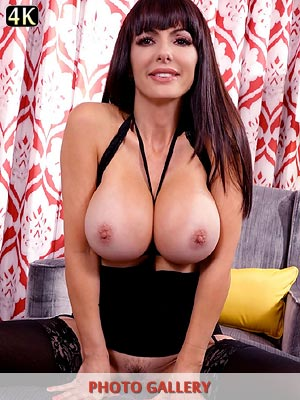 Catalina Cruz Huge Boobs Balck Stockings and Lingerie