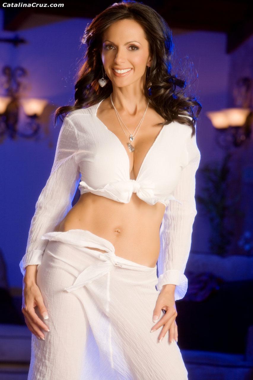 Catalina Cruz Huge Tit Naughty Girl in White