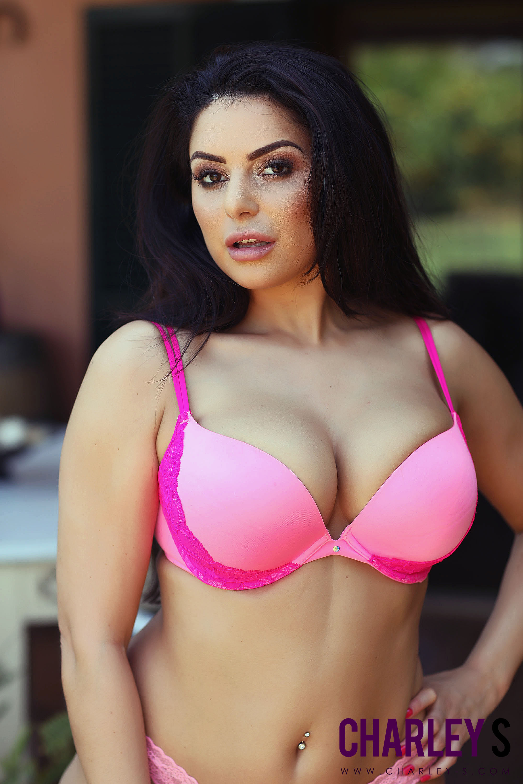 Charley S Big Boobs in a Pink Bra