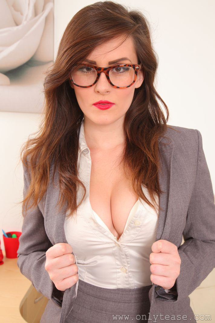 Charlie Rose Big Tit Secretary in Tight Skirt