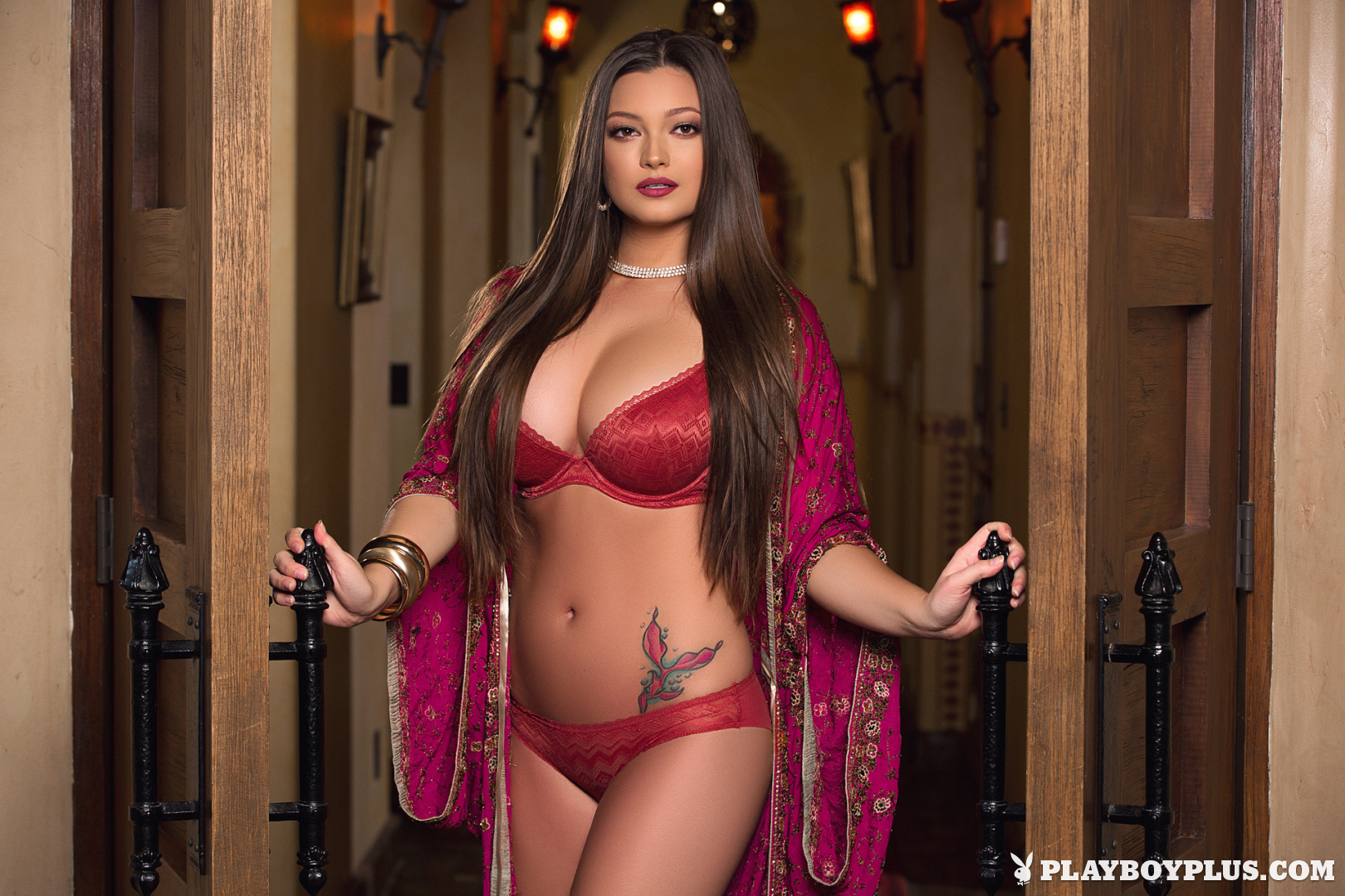 Chelsie Aryn Big Boobs in Sexy Red Lingerie