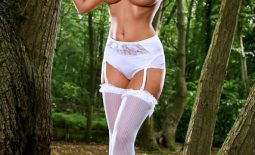 Cikita Big Boobs in her lingerie in the forest