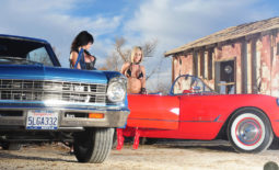 Denise Milani and Jenny P Huge Boobs and Cars for Actiongirls