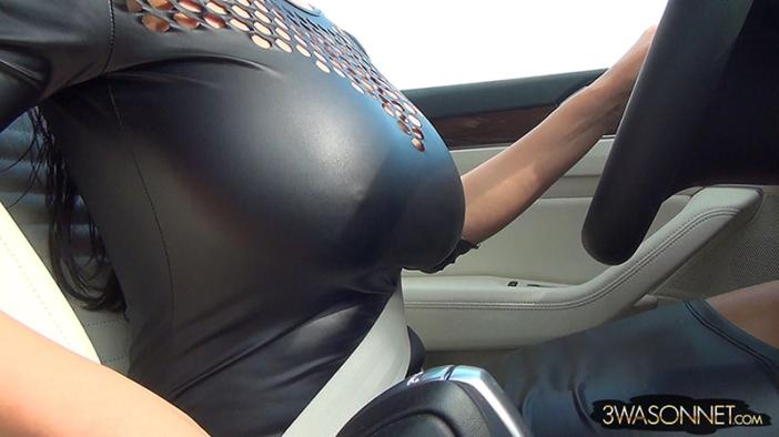 Ewa Sonnet Huge Boobs Tight Rubber Top