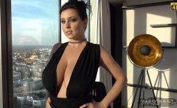 Ewa Sonnet Huge Tits in Very Sexy Black Dress
