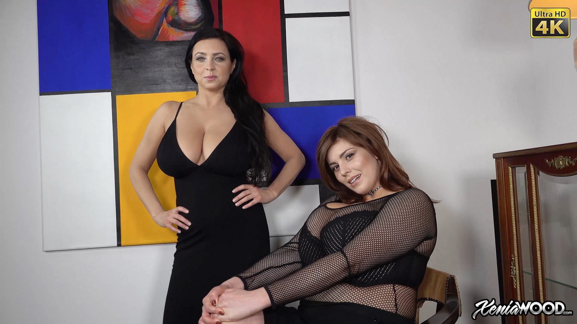 Ewa Sonnet and Xenia Wood create Huge Boob Topless Combination