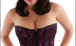Jelena Jensen Big Boobs in Purple Corset