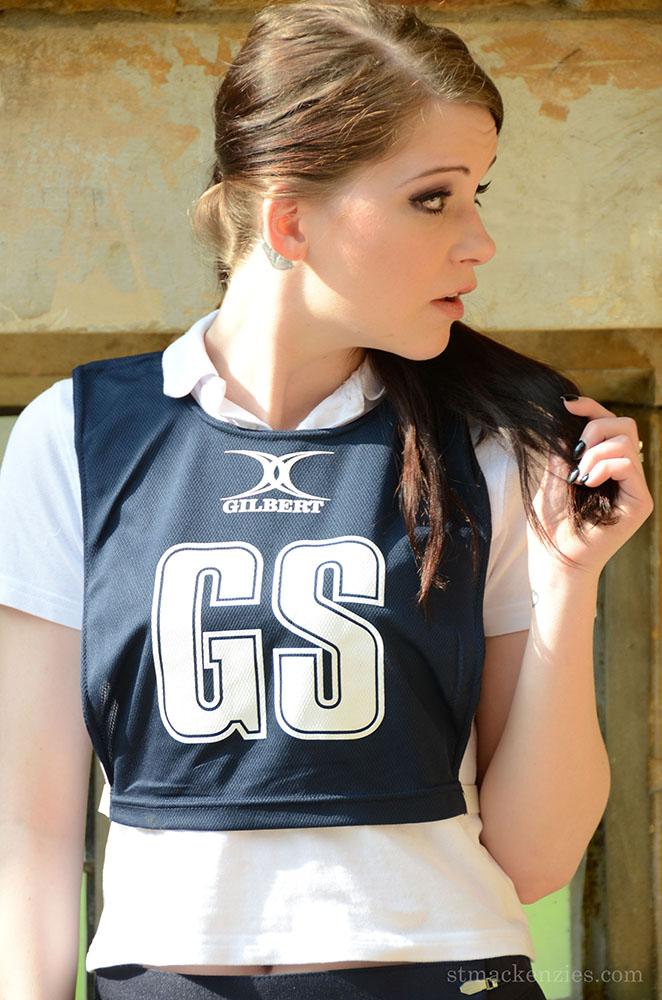 Jessica-Ann Fegan Strips Out of Netball Uniform