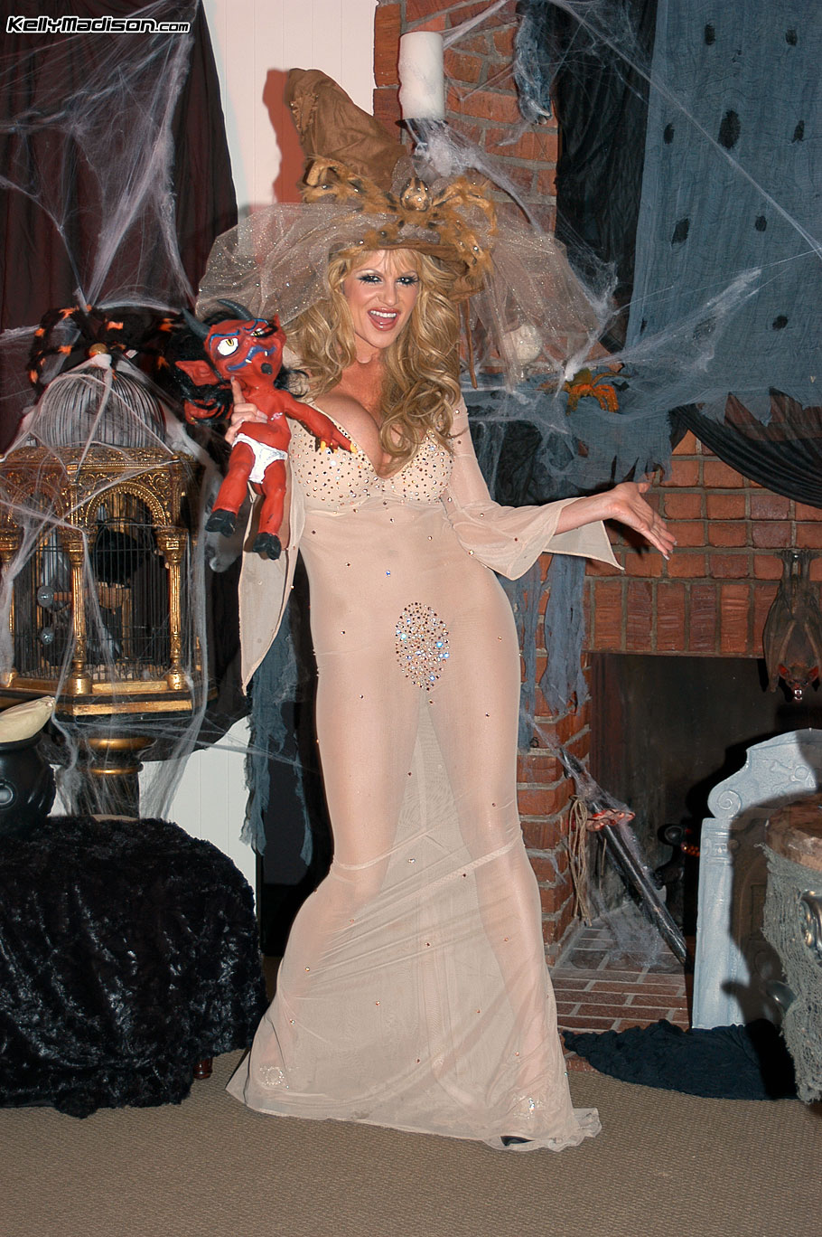 Kelly Madison Huge Tit White Witch in Costume