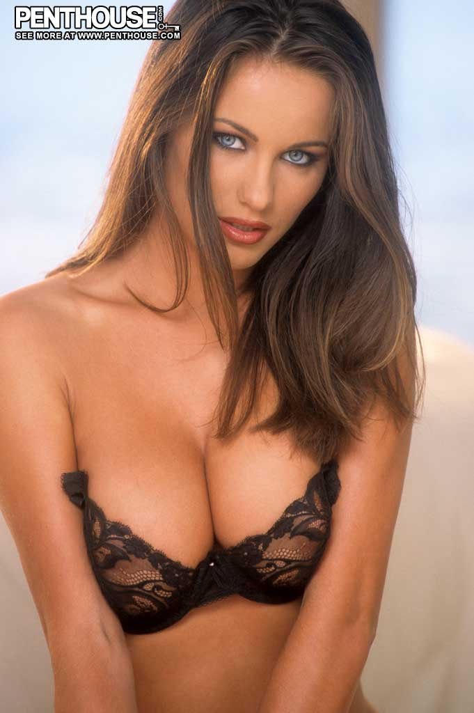 Kyla Cole Big Boobs Black Bra and Panties