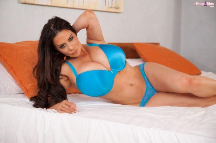 Linsey Dawn McKenzie Huge Tits Blue Bra and Panties
