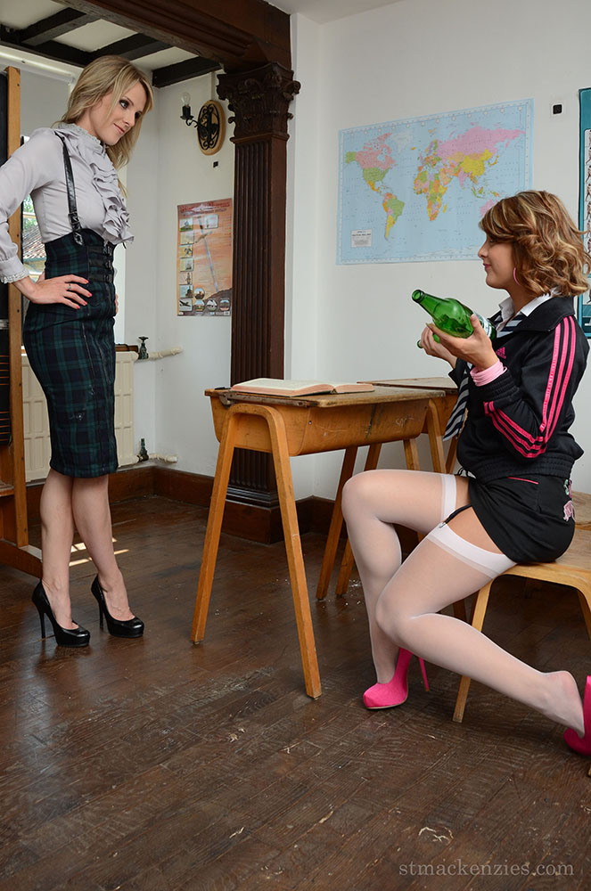 Lizzie Gibson Gets Taught a Naked Lesson by Headmistress Mackenzie
