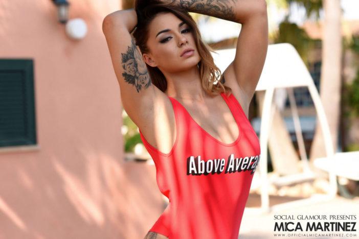 MIca Martinez Big Tits Looks Hot in Orange Swimsuit
