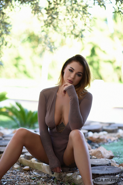 Mica Martinez Naked Boobs Under a Tree