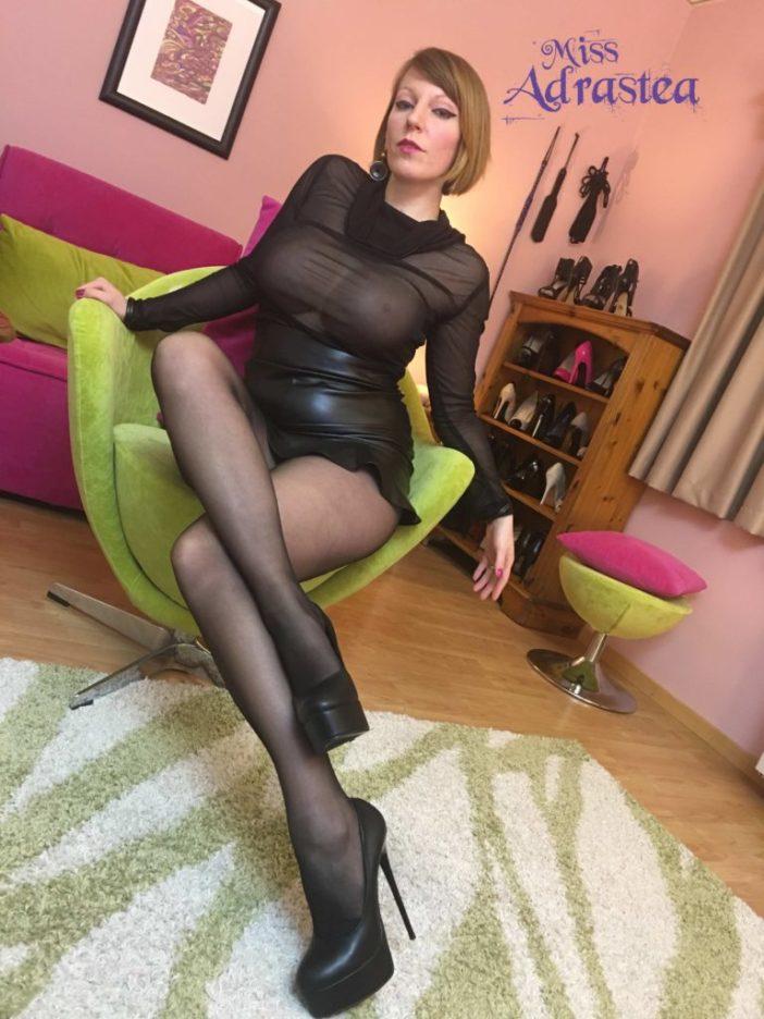 Miss Adrastea Big Boobs Nylons Seethrough and Boots