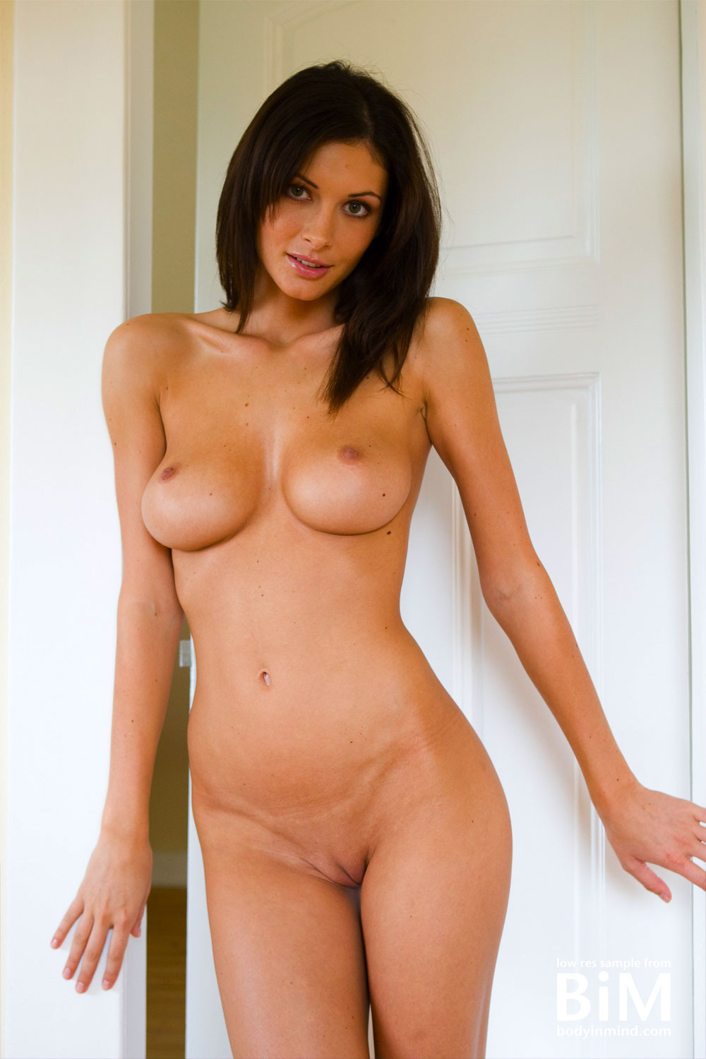 Orsi Kocsis Big Boobs Naked in the Doorway