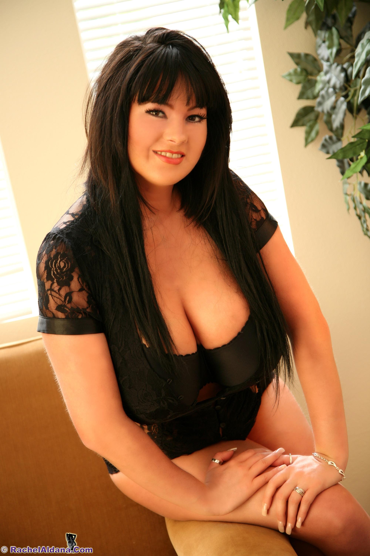 Rachel Aldana Huge Boobs Black Bra