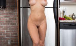 Rachelle Wilde Big Boobs Naked in the Kitchen