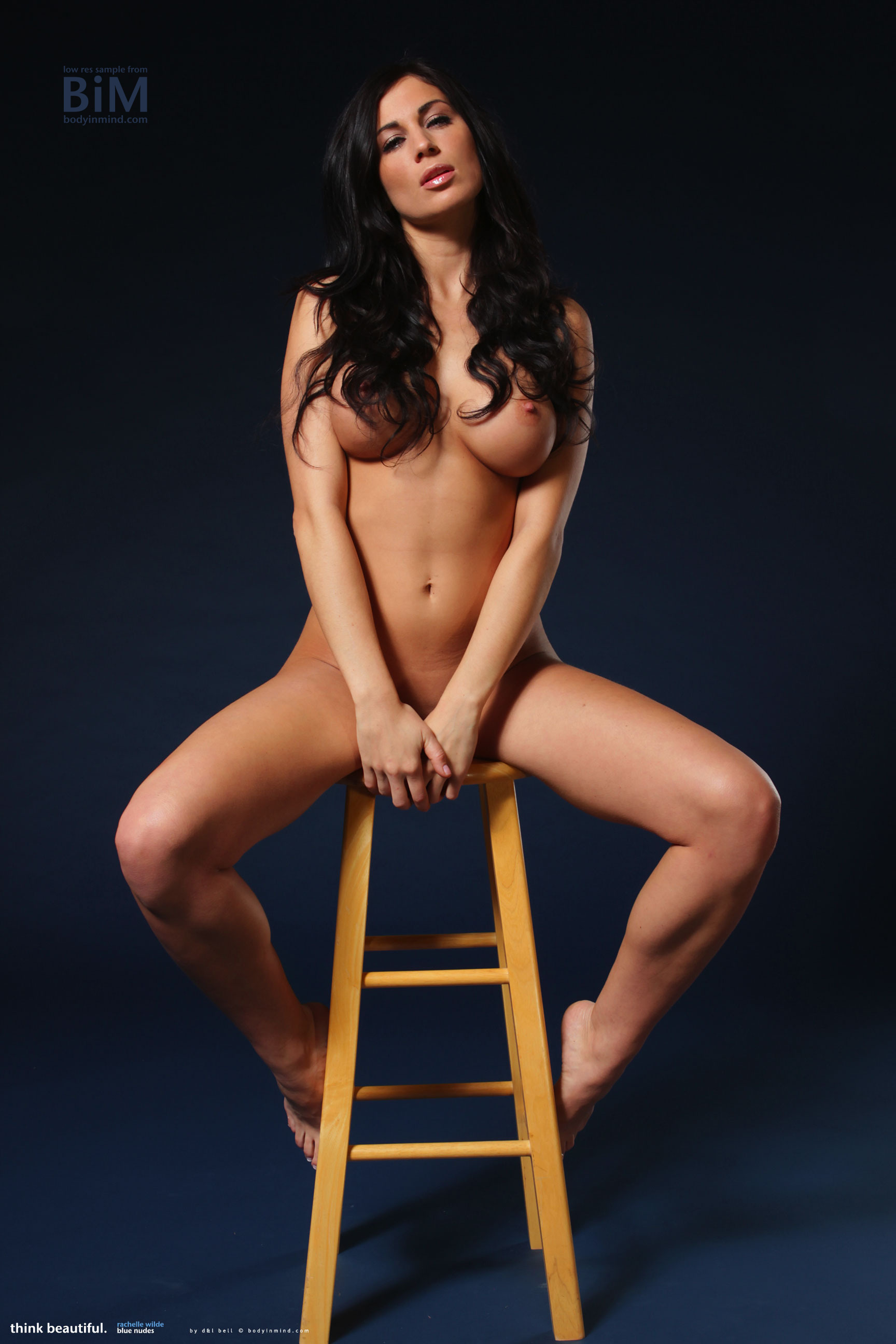 Rachelle Wilde Big Boobs Naked on a Stool