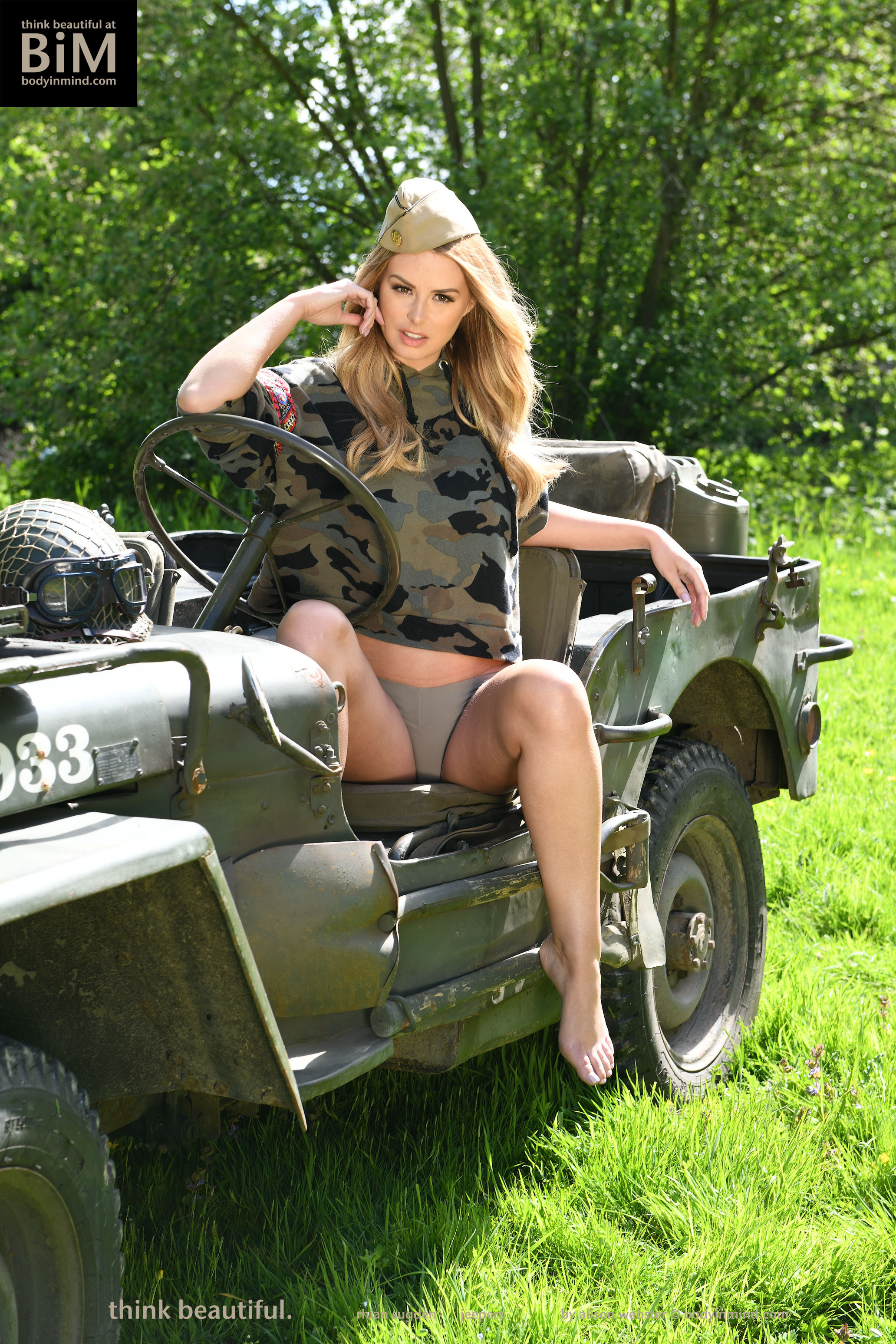 Rhian Sugden Big Boobs Blonde Army Major Gets Naked