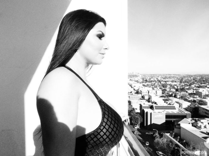 Romi Rain Big Boobs in Black and White