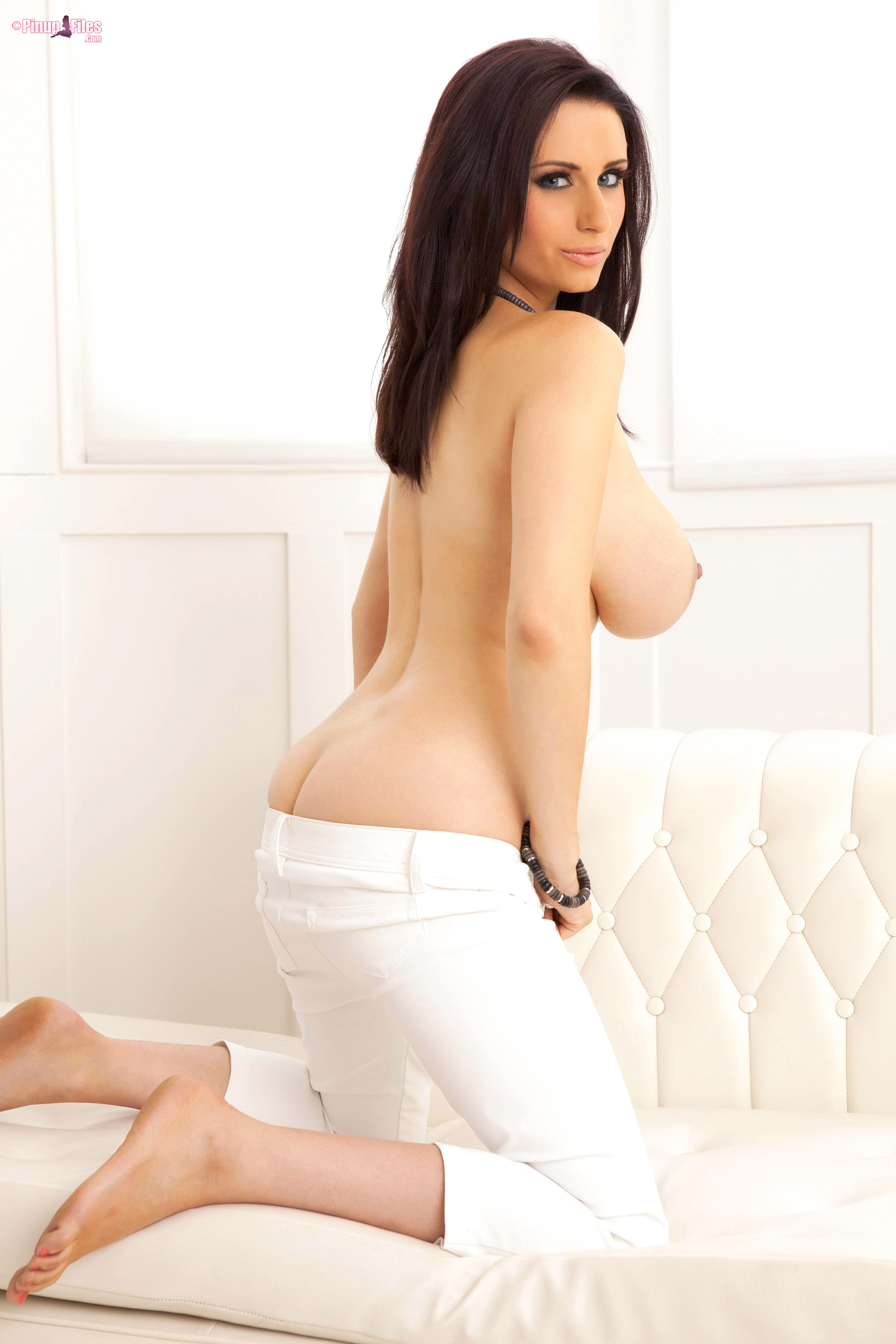 Sammy Braddy Huge Boobs Naked and White Trousers