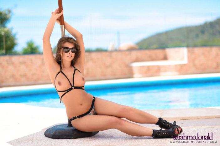 Sarah McDonald Big Ttis Bikini by the Pool