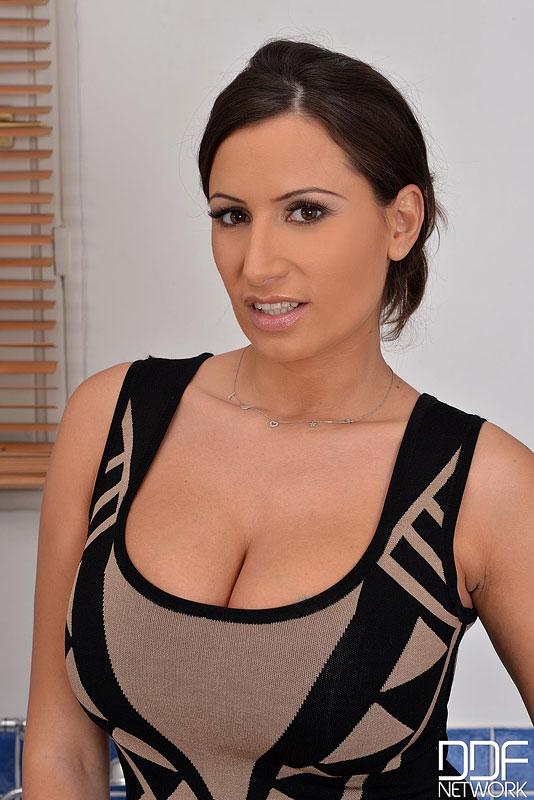 Sensual Jane Huge Breasts Tight Dress