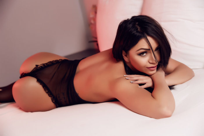 Sophy Davis Big Boobs on the Bed in Lingerie