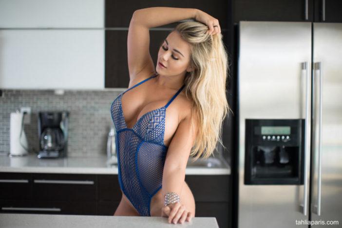 Tahlia Paris Huge Boobs in the Kitchen
