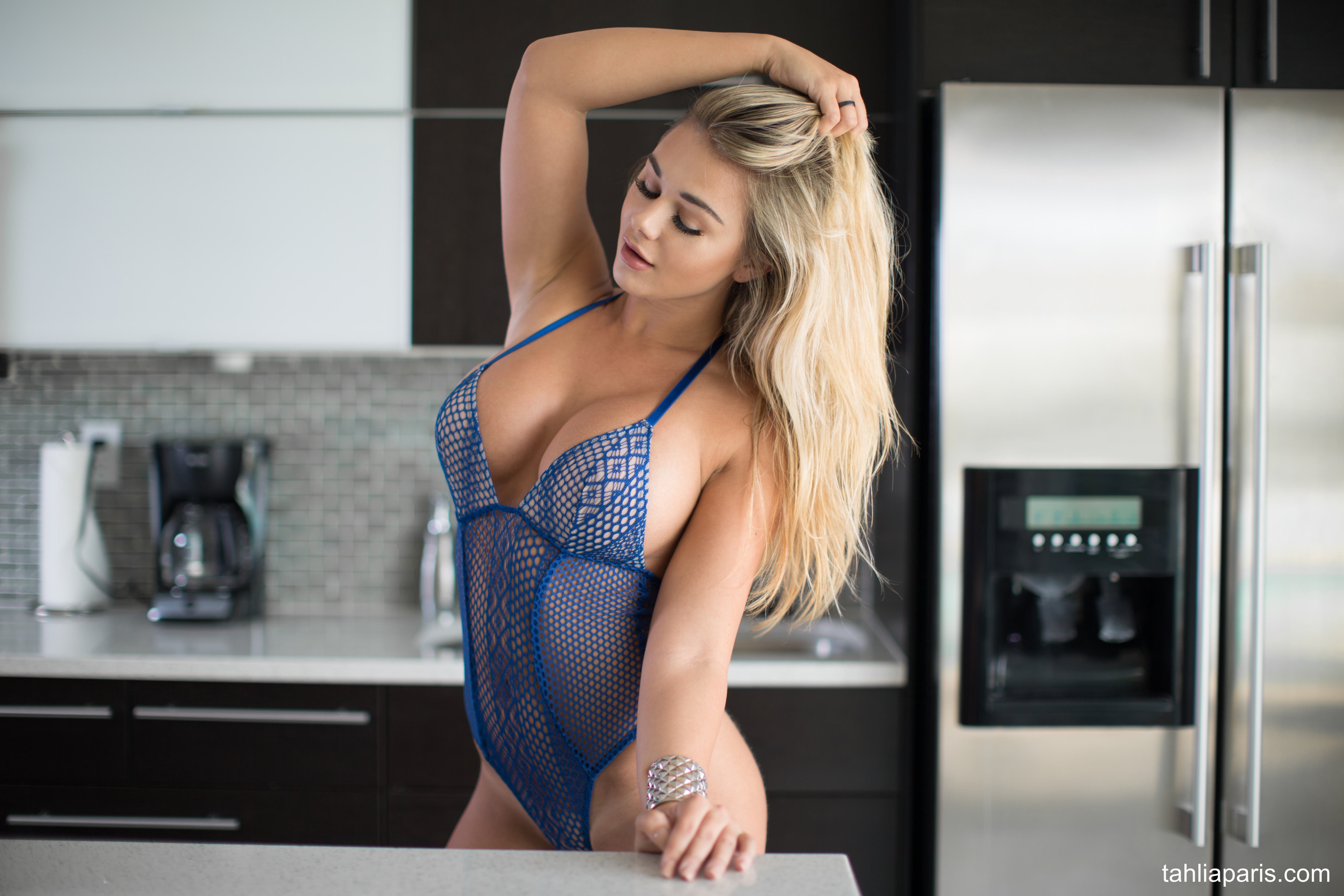 Tahlia Paris Huge Boobs in the Kitchen