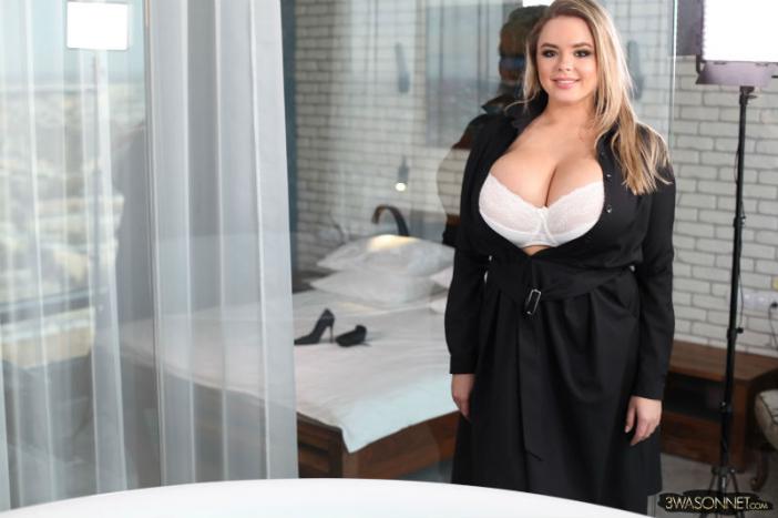 Vivian Blush Huge Tits in Lacy White Bra