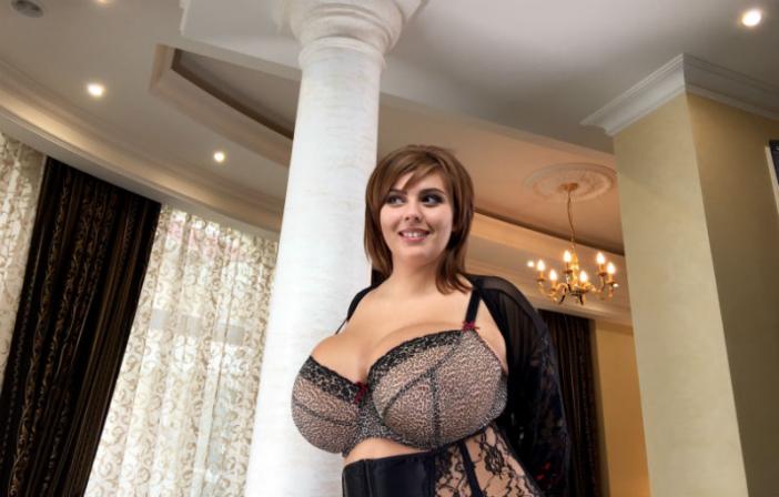 Xenia Wood Huge Boobs in Sexy Bra