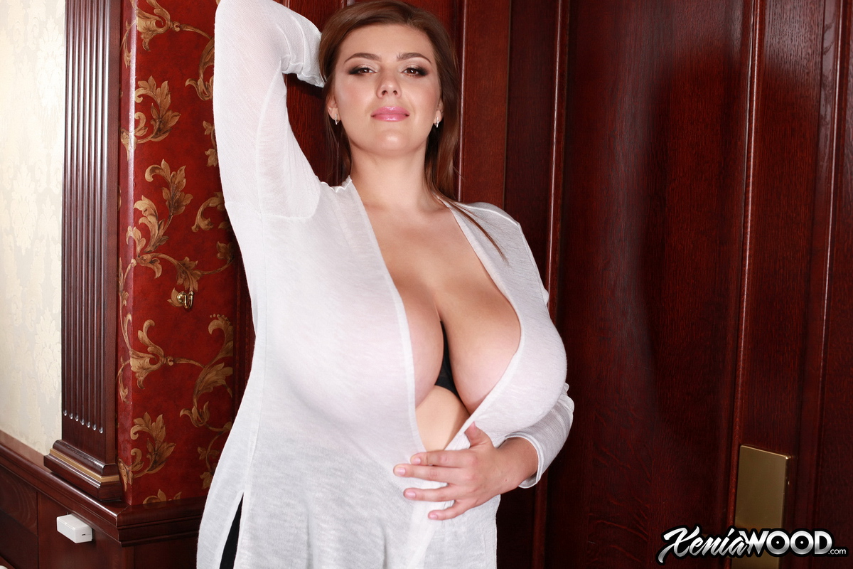 Xenia Wood Huge Tits Barely Covered by Transparent Top